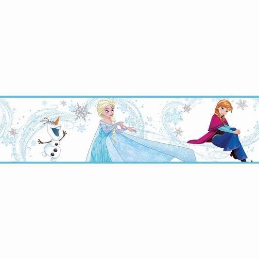 Frozen anna elsa and olaf blue saltas - Frise reine des neiges ...