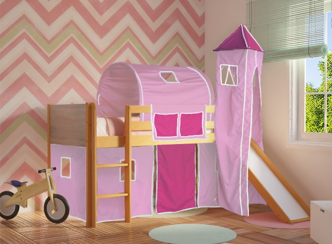 3e5fd877990 παιδικα κρεβατι Παιδικό κρεβάτι DREAM με τσουλήθρα SALTAS Έπιπλο παιδικα  κρεβατι ...
