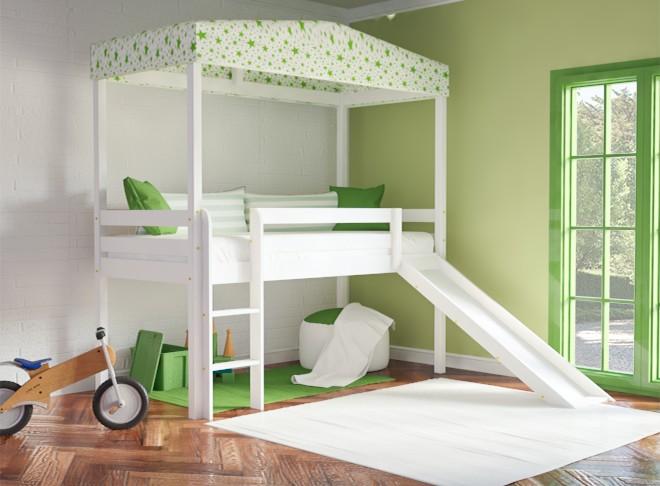 1be0bc9f653 Κρεβάτια με τσουλήθρα από μασίφ ξύλο - SALTAS Έπιπλο