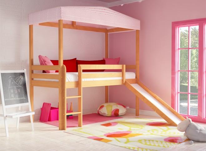 1ebb86f9736 Παιδικό κρεβάτι με τσουλήθρα CLOUD λευκό οξιά. €649.00. Προσθήκη στη Λίστα  Επιθυμιών loading