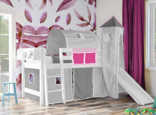 Τσέπες για παιδικό κρεβάτι ροζ φουξ