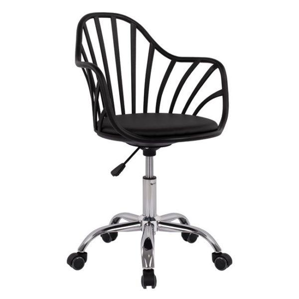 Μαύρη Inox Καρέκλα Γραφείου
