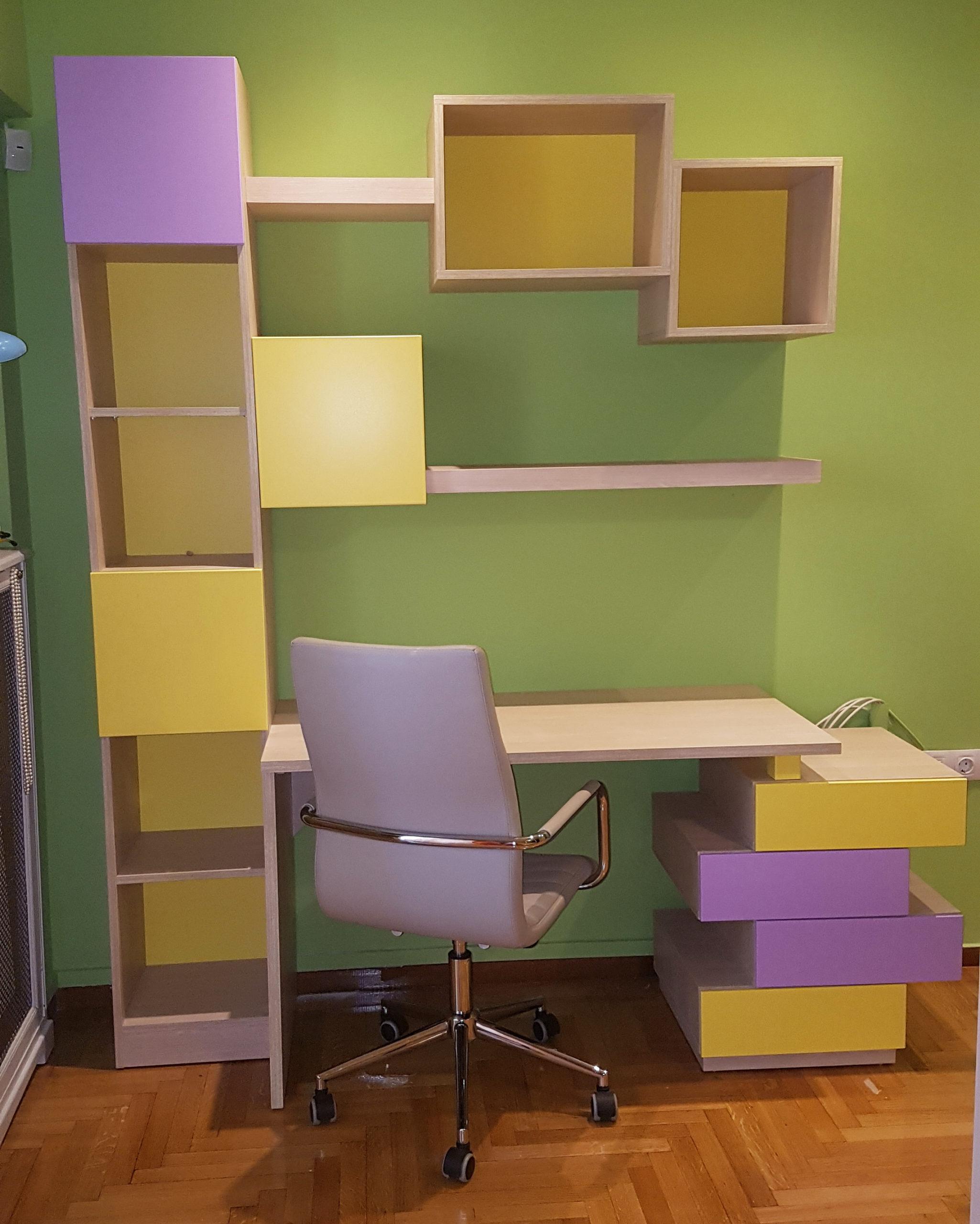 Ετοιμοπαράδοτο Παιδικό Γραφείο με Βιβλιοθήκη